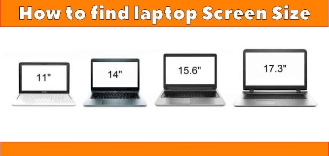 How to find Laptop Screen Size in Windows 10
