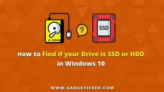 find if your drive is ssd or hdd