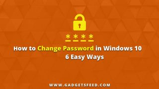 how to change password in windows 10