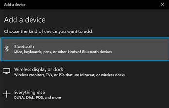 Add Bluetooth as a kind of device