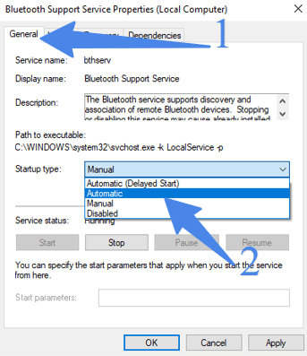 Bluetooth support service automatic