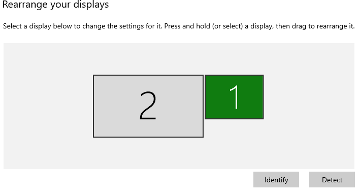 change order of display in dual monitor