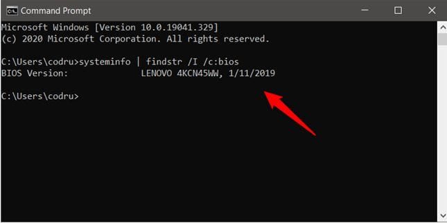 How Old is My Lenovo Laptop Using Command Prompt