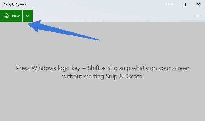 screenshots using snip and sketch tool