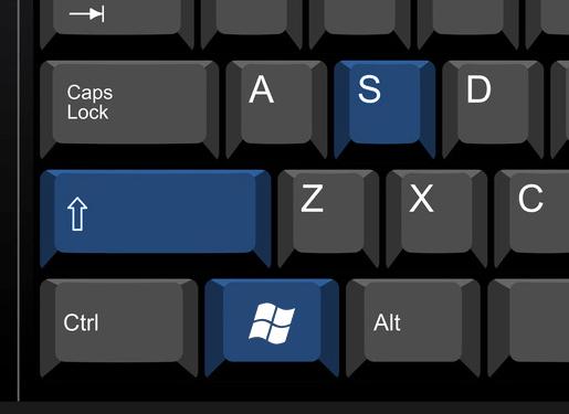 window + shift +S shortcut for screenshot on samsung laptop