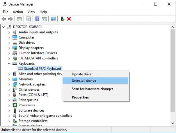 Reinstall keyboard drivers on Acer Laptop