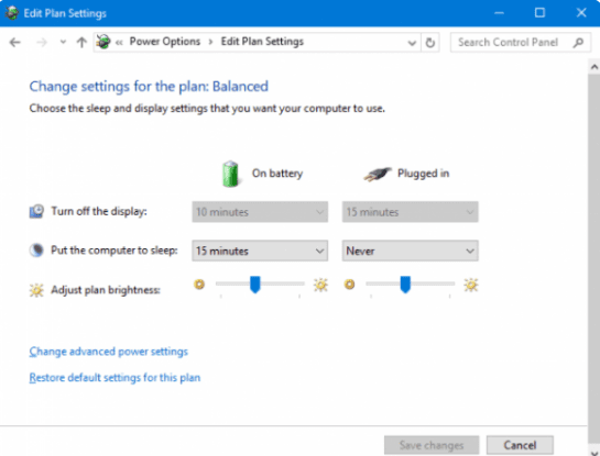 Turn Off automatic Brightness Level option in laptop